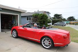bentley convertible red pacific grove house