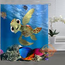 Nemo Bathroom Accessories by Online Get Cheap Turtle Shower Curtain Aliexpress Com Alibaba Group