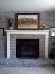 Decorate Fireplace by Awesome Grey Brick Fireplace Decorating Ideas Contemporary Fancy