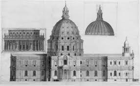 5 designs for the dome c 1687 u20131708 st paul u0027s cathedral