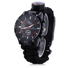 Watch by Multifuctional Gear Bangle Watch Survival Paracord Bracelet
