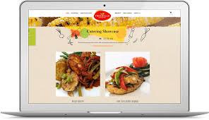 restaurant website design food catering website design portfolio