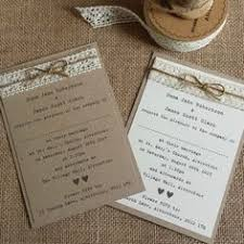 shabby chic wedding invitations vintage style wedding invitation with hessian lace rustic shabby