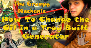 how to do an oil change on a 5500 watt troy built generator the