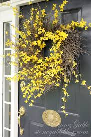 forsythia wreath forsythia wreath tutorial stonegable