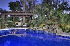 Outdoor & Garden Custom Blue Tile Platinum Pools Az With Rock