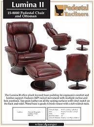 barcalounger lumina ii recliner chair and ottoman leather