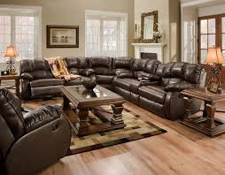 Brown Leather Sectional Sofa Incredible Leather Recliner Sectional Sofa With Leather Recliner