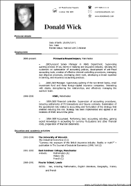 Simple Resume Templates Simple Resume Sample Doc Resume For Your Job Application