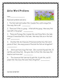2nd grade math word problems u0027themed u0027 addition and subtraction