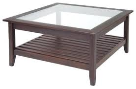 Glass Top Square Coffee Table Square Wood And Glass Coffee Table S Large Square Coffee Table