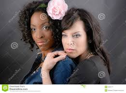 Interacial Lesbians - black and white couple stock image image of glamour makeup 5200777