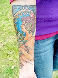 alphonse mucha first week 90 complete my new tattoo bas u2026 flickr