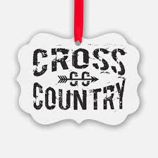 cross country running ornament cafepress