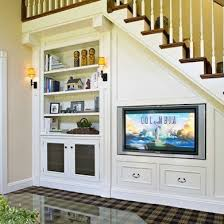 15 clever uses for the space under the stairs flat screen tvs