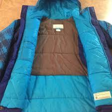 boys kids blue columbia hooded waterproof warm winter coat jacket