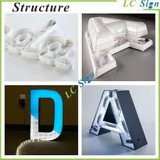 3d letter led backlit embossed metal sign buy backlit letters
