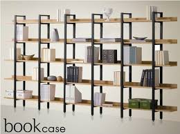 cheap iron wood shelf bookcase shelves display a combination of