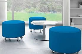 stylish as well as gorgeous blue round ottoman dwfields com