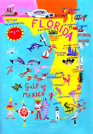 Map Of Treasure Island Florida by Florida Map Illustration By Christopher Corr Maps Travel Places