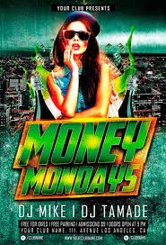 money monday party free flyer template for photoshop download