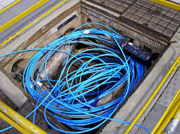 file fibre optic cable in a telstra pit jpg wikimedia commons