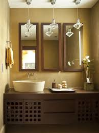 Bathroom Mirror With Light Dark Wood Bathroom Mirror Houzz