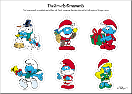 smurf paper craft projects