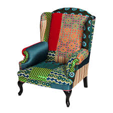 buy desigual patchwork armchair green amara