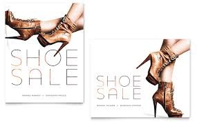 designer shoes sale poster template word publisher