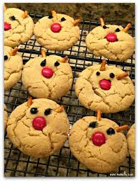 reindeer peanut butter blossom cookies momof6