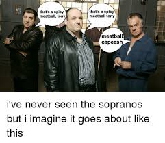 Tony Soprano Memes - that s a spicy meatball tony that s a spicy meatball tony meatball