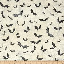 halloween fall repeating background timeless treasures wicked bats webs cream discount designer