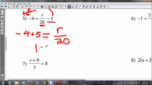 algebra grade 8 tutorial youtube