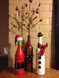 wine bottle christmas ideas tis the season a addition to your decor or a merry
