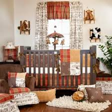 cowboy nursery bedding order the carson baby cowboy crib bedding set red brown 10340