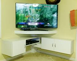Corner Tv Cabinet For Flat Screens Diy Corner Tv Stand Youtube