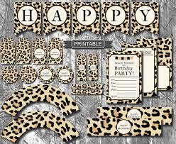 cheetah print party supplies diy leopard print cheetah print birthday party decorations