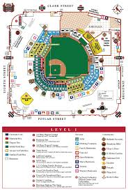 busch stadium level by level maps st louis cardinals