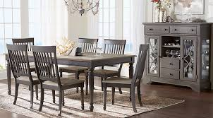 dining rooms sets home grove gray 5 pc dining room dining