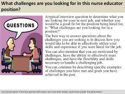 Nurse Educator Resume Examples by Nurse Educator Interview Questions