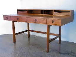 danish modern teak flip top lovig desk jens quistgaard dansk