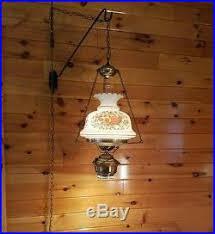 Hurricane Chandelier Quoizel Gwtw Rose Glass Shade Hurricane Hanging Swag Lamp Light