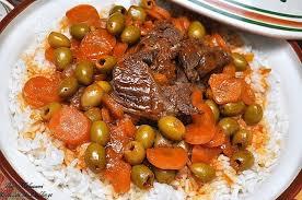 cuisine faire blanchir tadjine zitoune olives sauce à la viande de boeuf faire