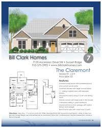bill clark homes floor plans brunswick county parade of homes