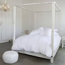 Platform Canopy Bed Tory Leather Wrapped Canopy Bed