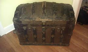 Antique Trunk With Name Also Name Of Lock Company Collectors Weekly