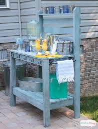diy potting bench u0026 outdoor buffet table outdoor buffet tables