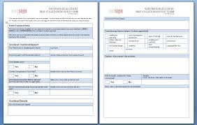 Incident Investigation Report Template by These Sle Report Forms Are Free To Use And