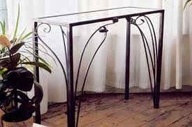 Wrought Iron Console Table Contemporary Wrought Iron Console Table